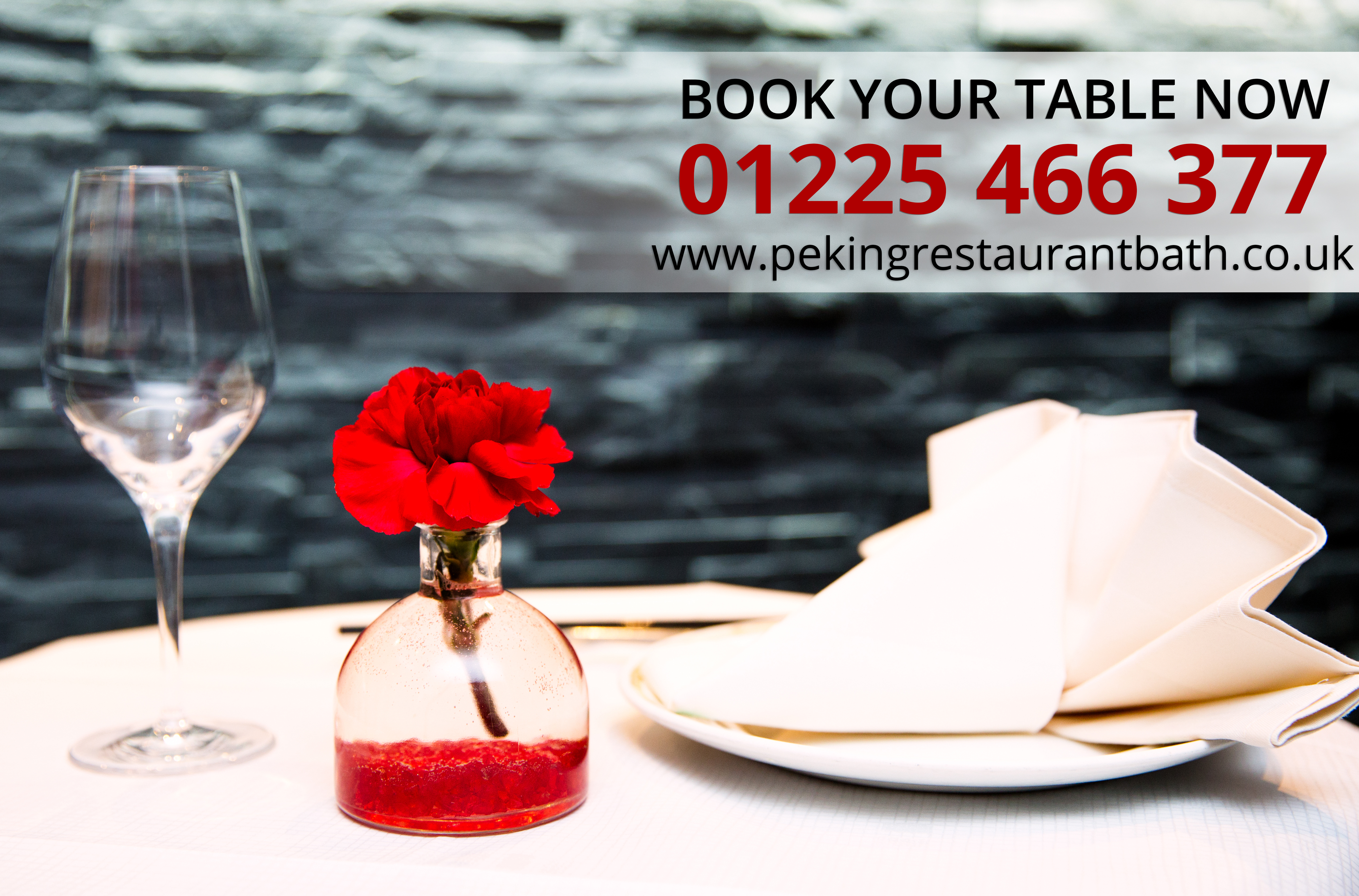 Book Your Table Now | 01225 466 377